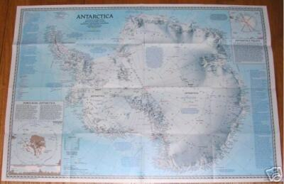 National Geographic MAP ANTARCTICA PINNIPEDS Around the World Poster APRIL 1987