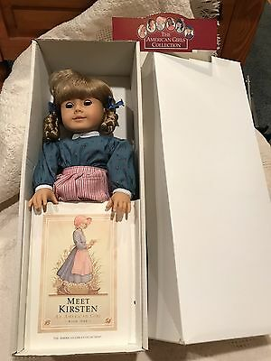 "American Girl, Kristen Larson Doll, 18"" Tall, RETIRED New In Box W/ 4 New Extras"