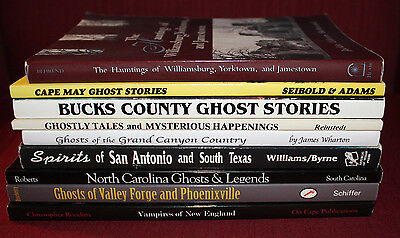 Regional Ghost Stories Paperback Book Lot of 9 Paranormal Unexplained