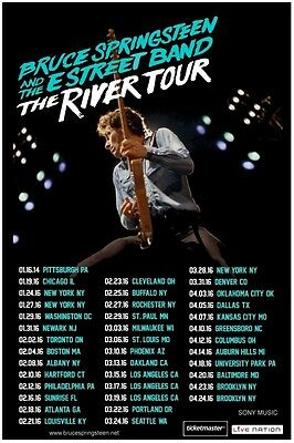 Bruce Springsteen 2016  Box office CONCERT POSTER USA / Canada