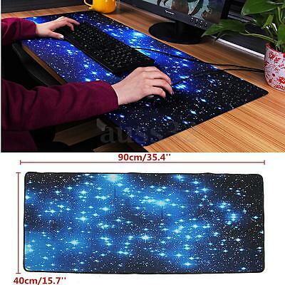 Large Galaxy Gaming Mouse Pad Keyboard Mat Office Desk Mousepad 35.4'' x 15.7''