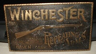 Vintage Winchester Repeating Arms Belt Buckle Brass 1970's