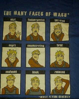 Loot Crate Firefly Many Faces of Wash Shirt Size Small