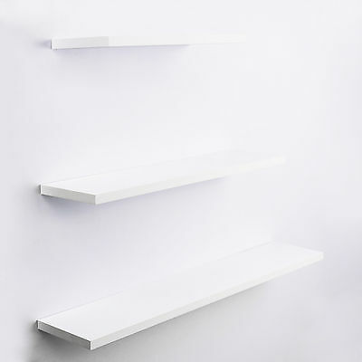 3Pcs Slab Floating Shelf Set Wall Shop Bookshelf DIisplay Concealed Furniture WH
