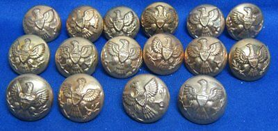 Indian Wars Army Buttons Lot Of 15 by Horstmann