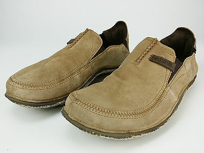 Cushe sz 11 44 Surf Slip Tan Sand Loafer Mens Suede Leather Loafers Casual