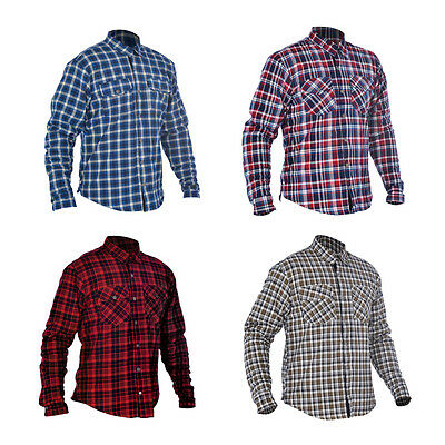 Oxford Kickback Motorbike Motorcycle Shirt Checker Water Resistant With Kevlar