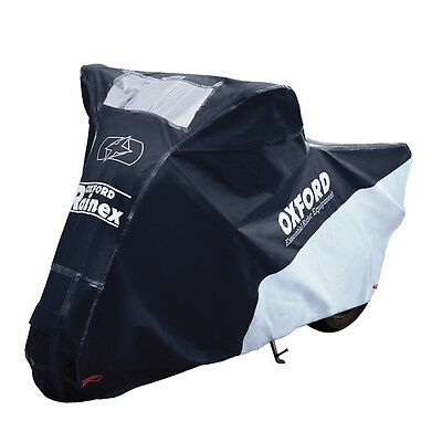 Oxford Rainex Deluxe Rain Cover and Motorbike Dust Cover with Soft lining