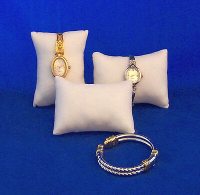 WHITE Velveteen Jewelry Watch Display Pillows Lot of 12