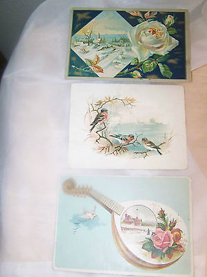 Three Beautiful Antique Lion Coffee Trade Cards
