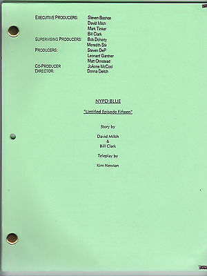 """NYPD BLUE show script """"Untitled Episode Fifteen"""""""