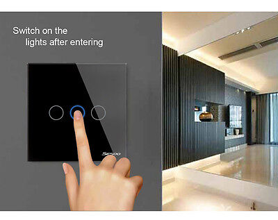 SESOO Crystal Glass 3G 433MHZ Touch wall Light Remote Switch EU/UK Waterproof