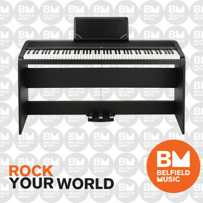 Korg B1-SP Digital Piano w/ Stand & 3 Pedals Black B1SP - BNIB - Belfield Music