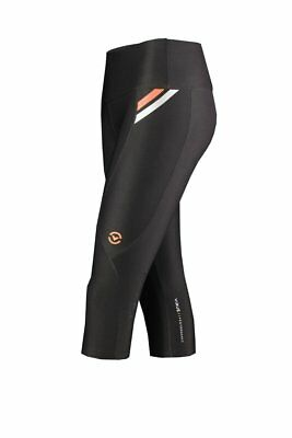 Women's Stay Cool Compression Crop Pants (ECo14) in Orange, Pink, Silver