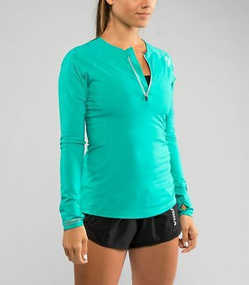 Women's Stay Cool V-Line Half Zip (ECo23) in Teal