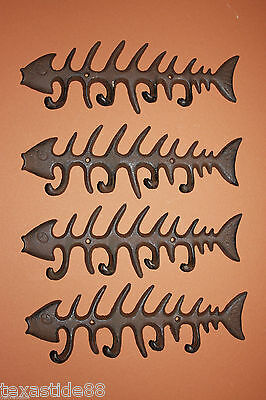 (4)Bone Fish, Large, Seafood, Restaurant Decor, Fish Bones, Decor, Bonefish