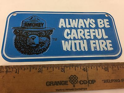 Blue Smokey Bear Metal tin sign license
