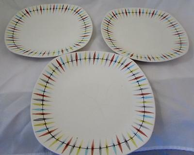 4 Midwinter Cherokee Plates 3 Dinner & 1 Bread Jessie Tait