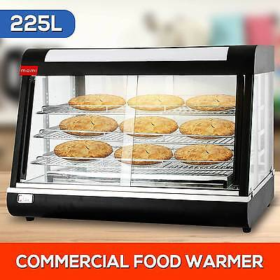 NEW 225L Commercial Display Pie Warmer Display Cabinet Hot Food Showcase