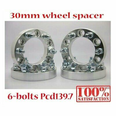 (4) 6X139.7 30MM Wheel Spacers Adapter Pajero Triton Lancruiser Hilux Trooper