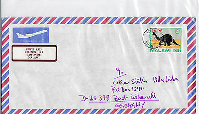 Malawi 627 DINOSAURIER  BRIEF COVER LETTRE AFRICA