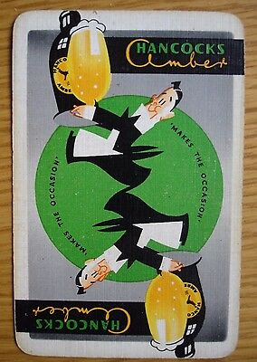 Brewery Single Playing Card. Hancocks Amber Ale.South Wales.