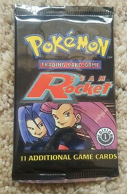 Pokemon Team Rocket 1st Edition ENGLISH Booster Pack sealed