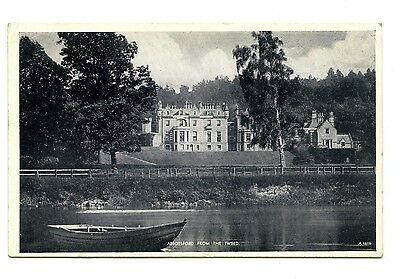 'Abbotsford from the Tweed' 1958 postcard