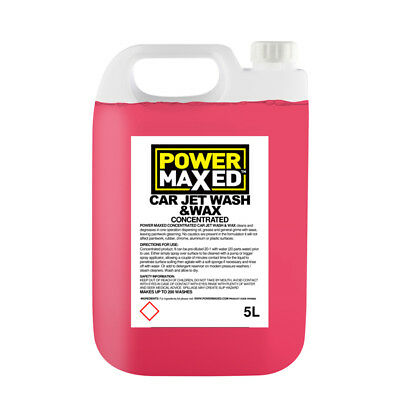 Power Maxed WW5000 5L Car Jet Wash & Wax Liquid Cleaner 5 Litres Concentrate