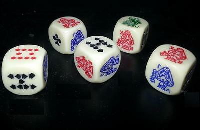 Details about  5 X POKER DICE CRAPS - NEW AND FREE SHIPPING
