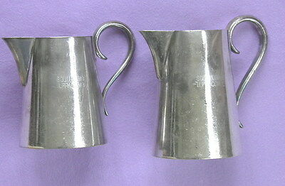 Two JUGS of ELKINGTON PLATE from SOUTHCOMBE ILFRACOMBE