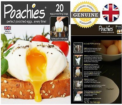 Poachies Egg Poaching Bags Poached Egg Bags CHOOSE NUMBER OF PACKETS *UK SELLER*
