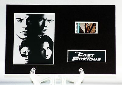 Fast & Furious -  6 x 4 Unframed movie film cell display great gift