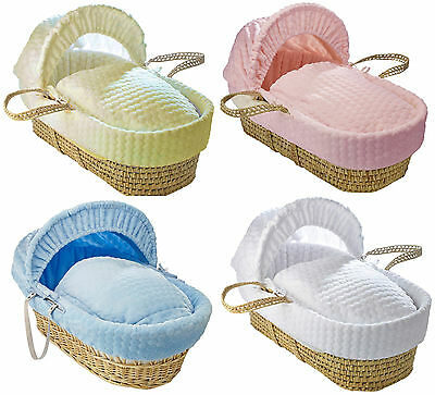 New Luxury Made in UK Marshmallow Bassinet Moses Basket Replacement Cover Set