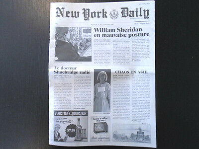 Xiii Revue De Presse Journal New York Daily Neuf Port Offert !