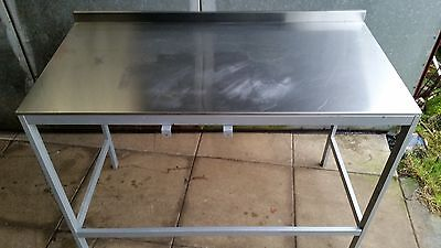 stainless steel catering table work bench kitchen tables back splash
