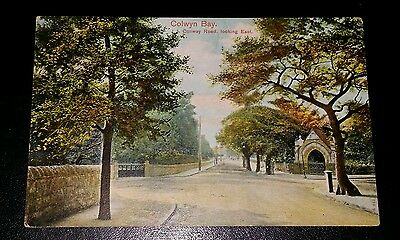 VINTAGE POSTCARD - COLWYN BAY, CONWAY ROAD - EARLY 1900's