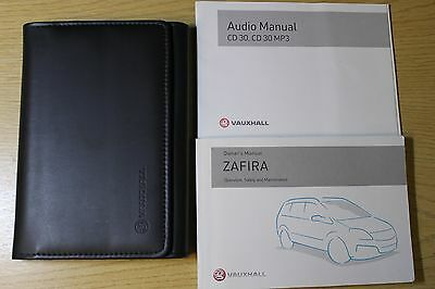 Vauxhall Zafira B Owners Manual Handbook Wallet 2005-2008 Pack 5992