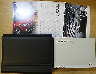 Kia Soul Owners Manual Handbook Wallet 2014-2016 Pack !