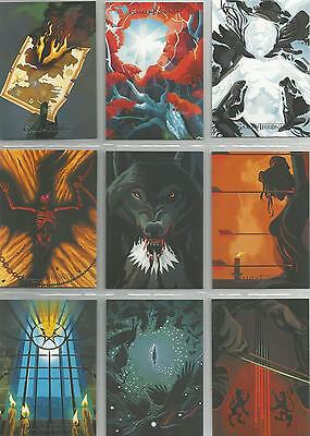 """Game of Thrones Season 5: """"Beautiful Death Poster"""" Set of 20 Chase Cards BD21-40"""