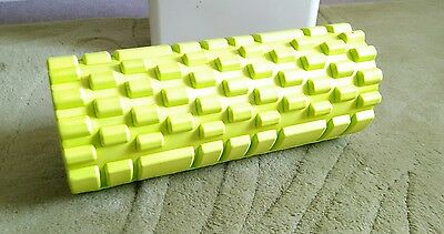 Trigger point foam roller in lime green