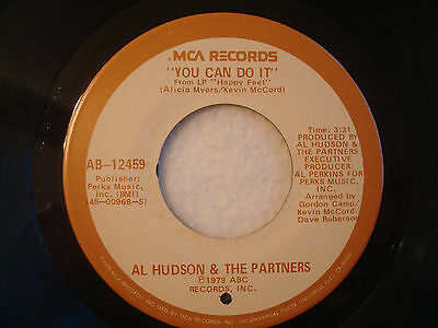 "Al Hudson & The Partners ""You Can Do It"" MCA 7"" 45 VG+"