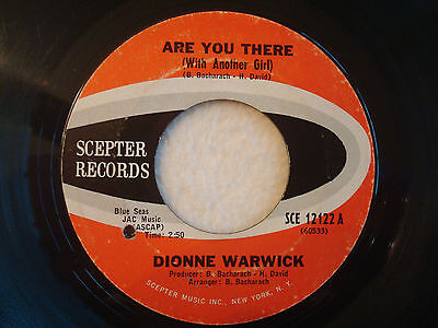 "Dionne Warwick ""Are You There (With Another Girl)"" Scepter 7"" 45 G-"
