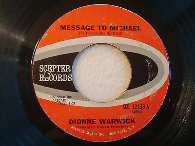 "Dionne Warwick ""Message To Michael"" Scepter 7"" 45 G"