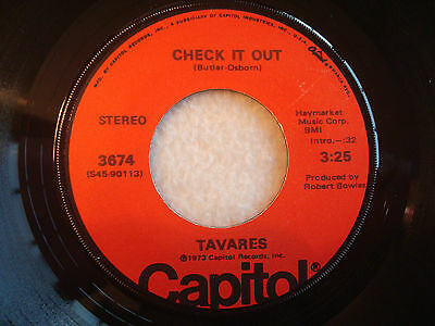 "Tavares ""Check It Out"" Capitol 7"" 45 VG+"