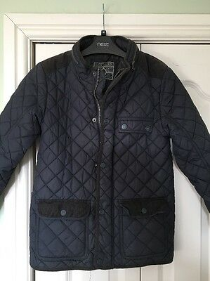 Boys Navy Quilted Jacket, Age 9