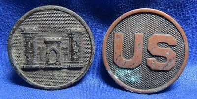 WWI Army Engineer Enlisted Collar Discs Lot Of 2