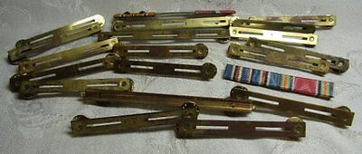 WWII Brass Ribbon Bars Lot Of 20