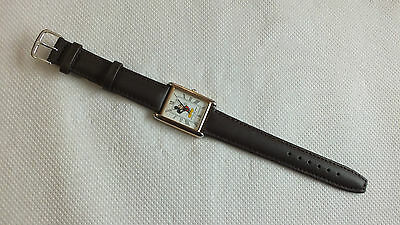 Vintage Ladies Mickey Mouse Watch GOld Plated New Battery New Strap Very Good