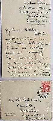 Great Britain 1907 Fulham Cover & Letter With Interesting Social History Content